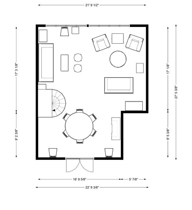 One Room Challenge floorplan by Kevin O'Gara