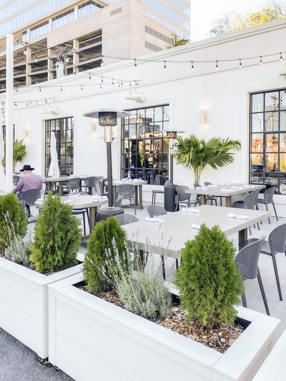 Adele's Nashville restaurant patio, cute patio, cute Nashville, city guide, travel guide on Thou Swell on Thou Swell #nashville #nashvilleguide #cityguide #travelguide #travel
