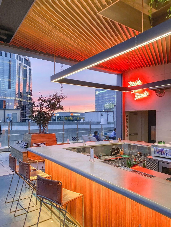 Noelle hotel Nashville boutique hotel Rarebird rooftop bar in Printers Alley, Nashville city guide on Thou Swell #nashville #travelguide #cityguide #nashvilleguide