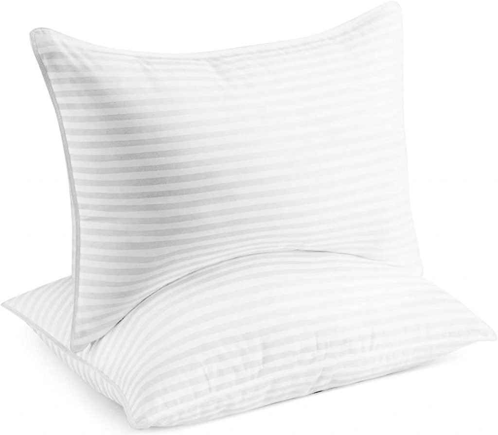 Best bed pillows blogger review gel and down alternative pillows