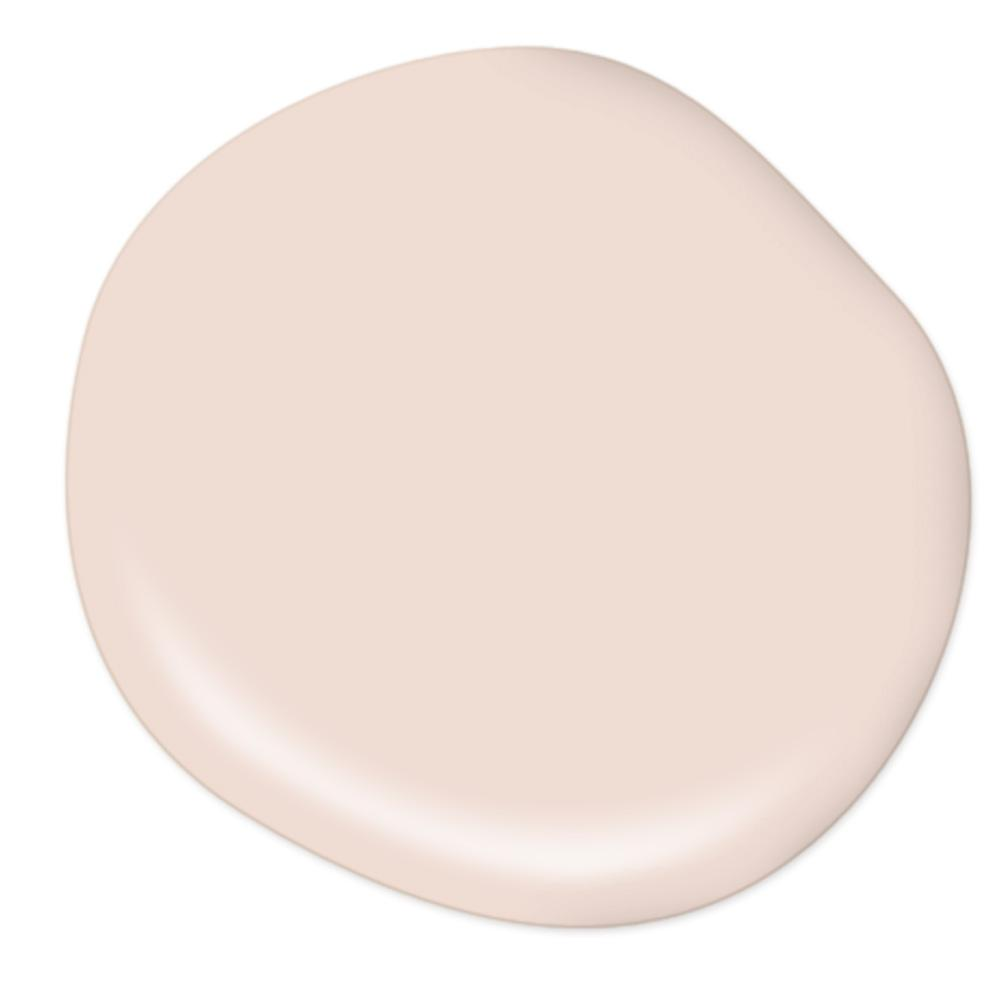 Behr Stolen Kiss pale blush pink wall color on Thou Swell popular paint guide