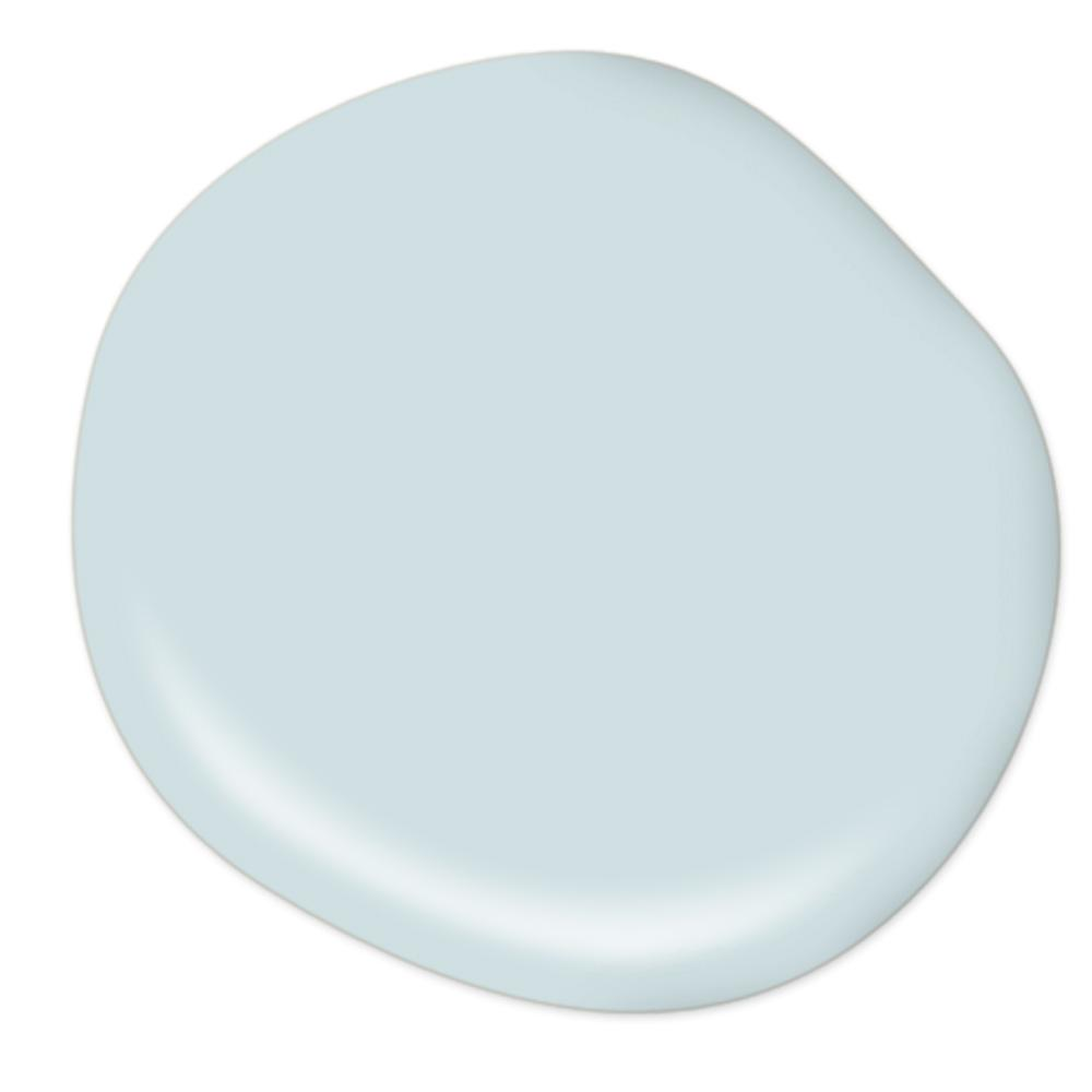 Behr Waterfall serene light blue paint color, wall and sky blue ceiling paint on Thou Swell
