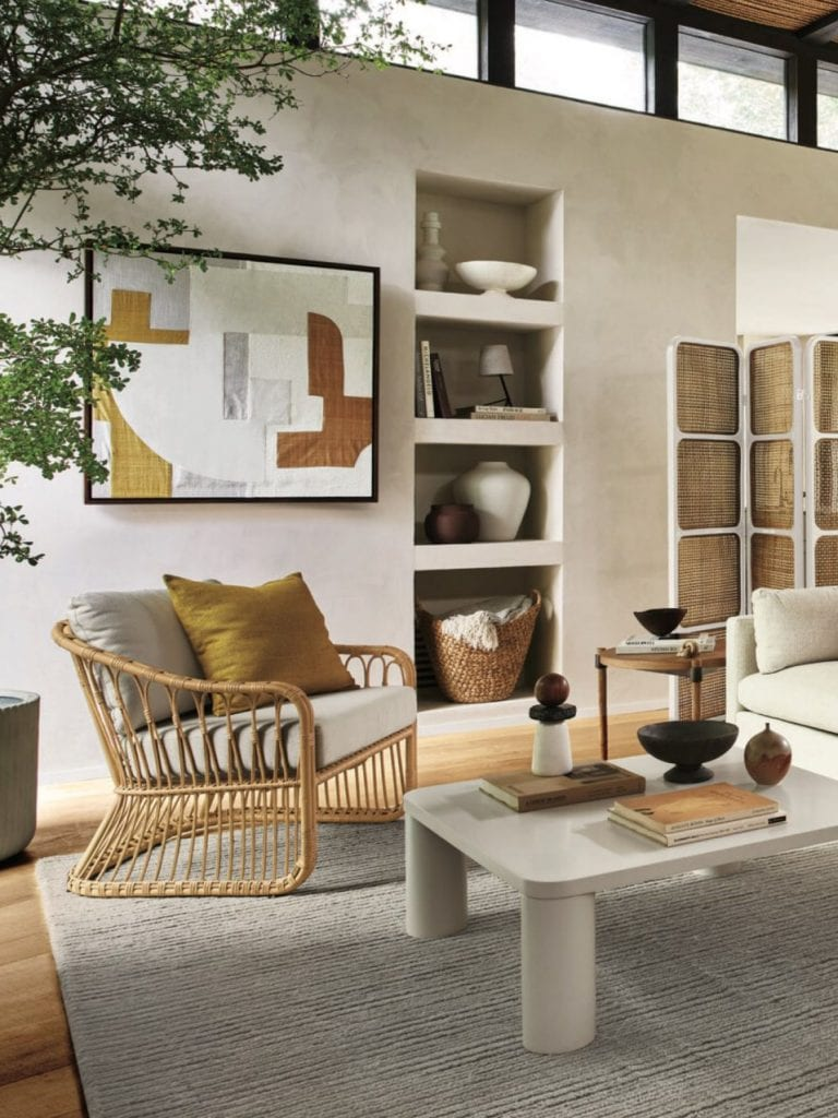 Boho luxe furniture from west elm's spring collection 2021 on Thou Swell #westelm #bohostyle #bohodecor #boholuxe #moderndesign #homedecorideas #homedesign
