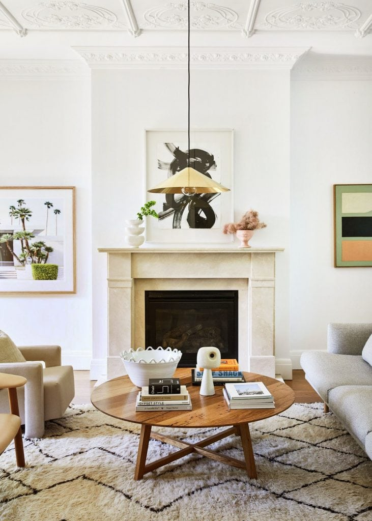 Modern living room with handmade ceramics on Thou Swell #handmade #ceramics #handmadeceramics #etsy #homedecor #homedecorideas #homedesign #livingroom #decor