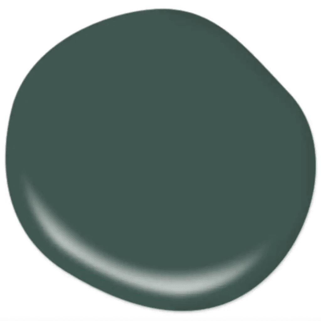 Behr Dark Everglade dark emerald green paint color