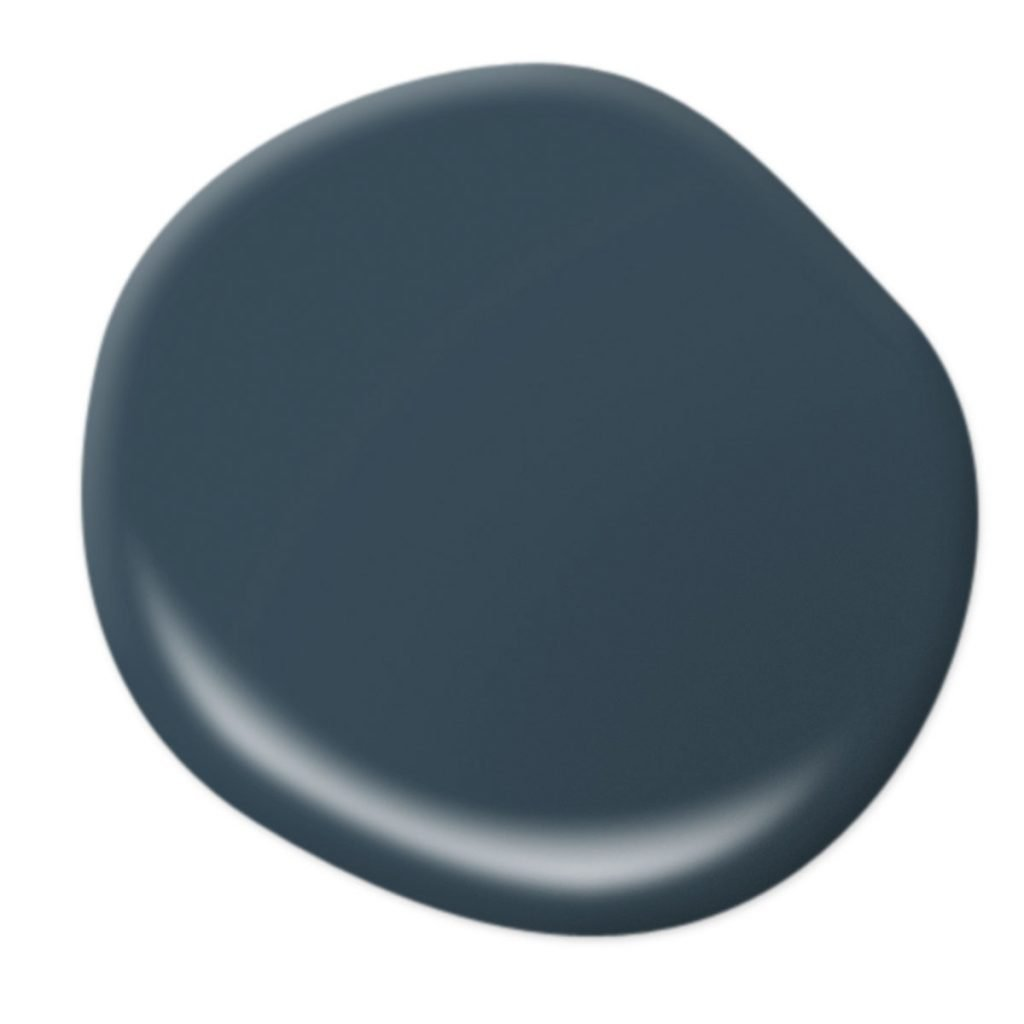 Behr Blue Nocturne Dark Blue-Green Paint Color on Thou Swell popular paint guide